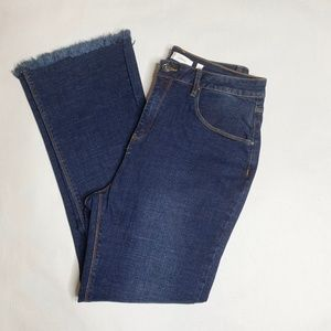 A Loves A  Denim Raw Hem Fringe Jeans Size 32